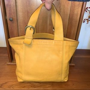 Vintage COACH Saffron Yellow Waverly Tote USA 4133
